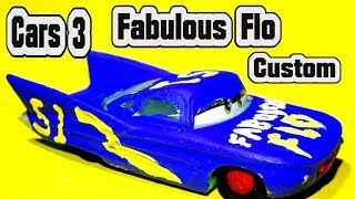 Pixar Cars 3 Custom Fabulous Flo with Fabulous Miss Fritter Lightning McQueen and Primer McQueen