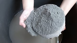 dusty soft cake coated with cement   dusty smokey yummy water crumbling   asmr cement