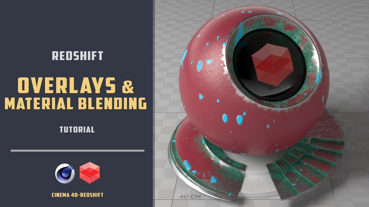 Surface Imperfections and Material blending in Redshift [CINEMA 4D  TUTORIAL] by BLUE FOX Creation