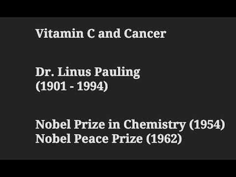 "Vitamin C  –  Dr. Linus Pauling – author of ""How To Live Longer and Feel Better"" – Vitamin C"