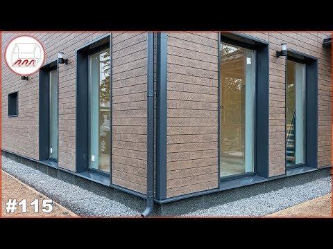 Японский фасад для дома из газобетона - панели KMEW