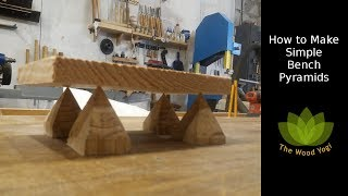 How to Make Bench Pyramids   Easy Woodworking Tool Project