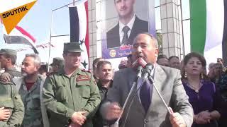بالفيديو والصور... الآلاف من أهالي درعا يحييون أعياد النصر