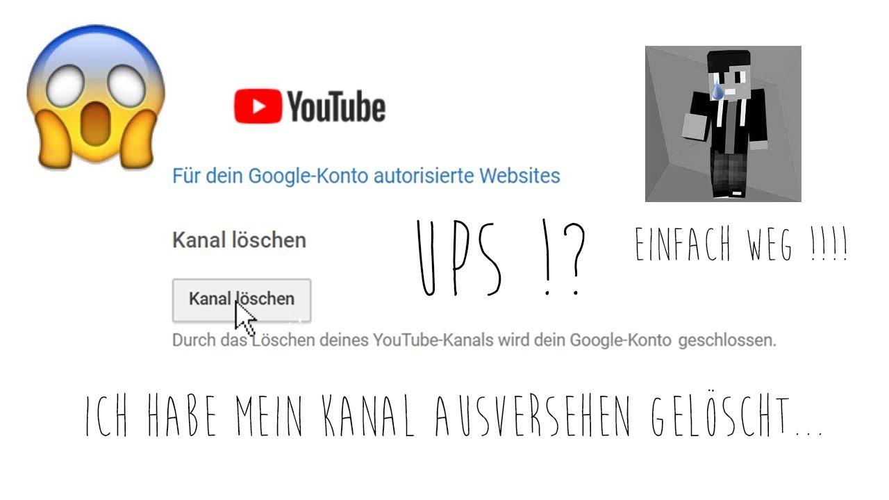 Youtube Kanal Gelöscht
