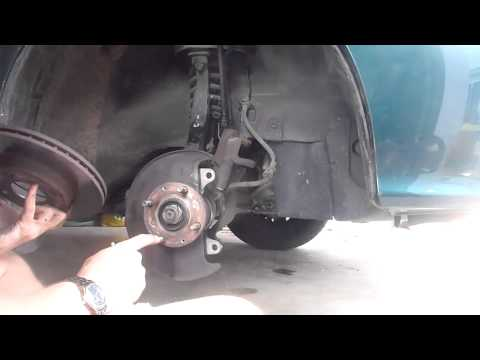 4/21 Front Wheel Bearing Replace (Actual Caliper & Disk Removal)