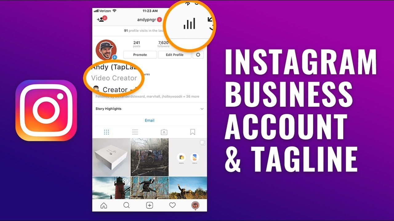 how to set a business instagram account
