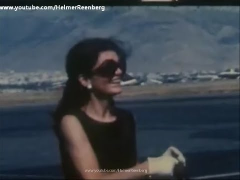 July 7, 1969 - Jacqueline Kennedy Onassis greets her son John Jr. at Athens Airport, Greece