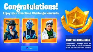 Fortnite OVERTIME CHALLENGES FREE REWARDS and ITEMS (Unlock Free Skin Stages Season 8)