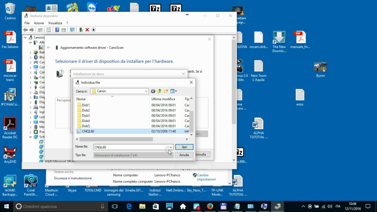 Canon LiDE 20 25 30 35 60 and Scanner Driver For Microsoft Windows bit