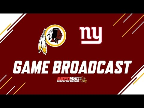 Redskins Radio Booth LIVE vs NY Giants