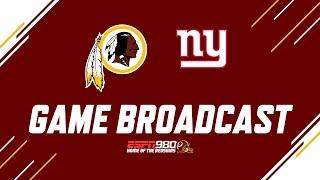 Redskins Radio Booth LIVE vs NY Giants