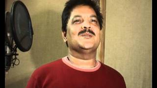 UDIT NARAYAN at a Song recording