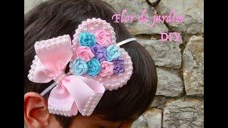 DIY -Tiara com coração e laço – tiara with bow and heart