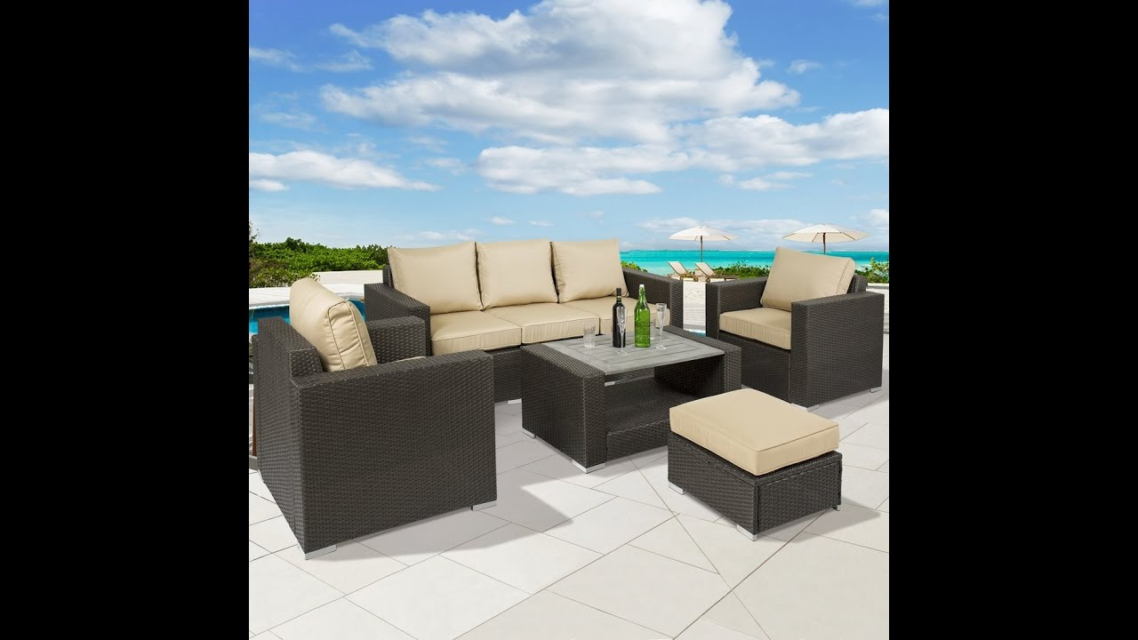 SKY2643 Best Choice Products 7pc Outdoor Patio Sectional PE Wicker Furniture  Sofa Set