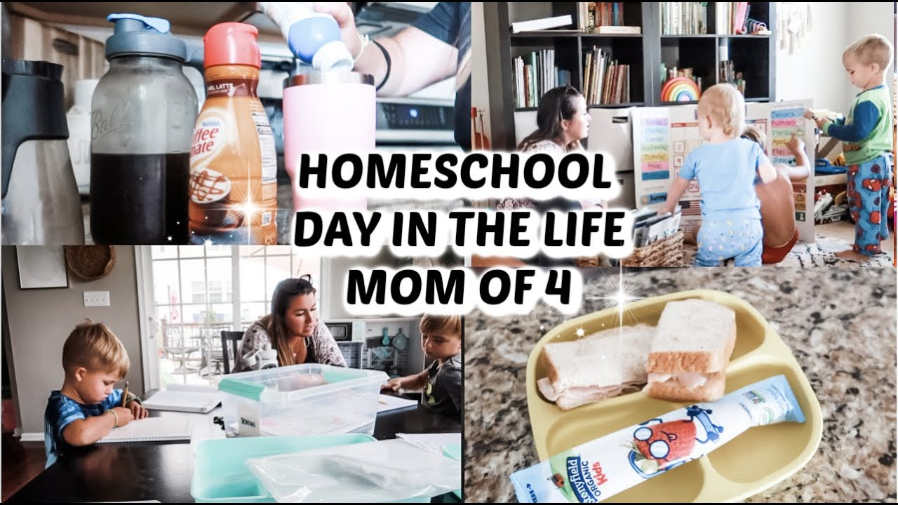 DAY IN THE LIFE OF A HOMESCHOOL MOM OF 4 // Mama Approved