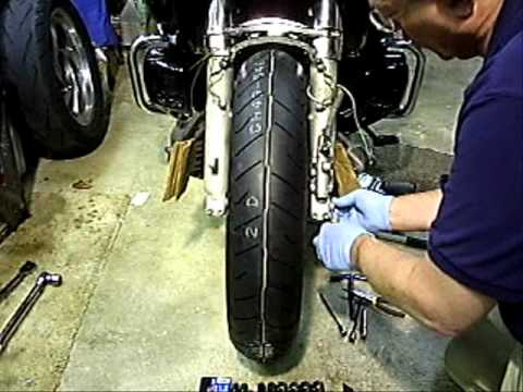 GL1800 Front Wheel Removal and Installation