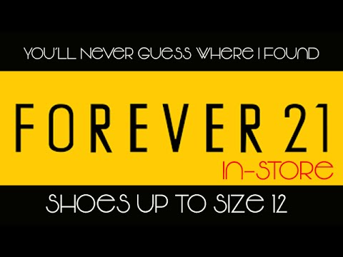 Tall Fashion Find!   Cute Fall 2015 Shoes up To Size 12 at Forever 21