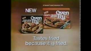 70's Ads: General Foods Oven Fry Fried Chicken