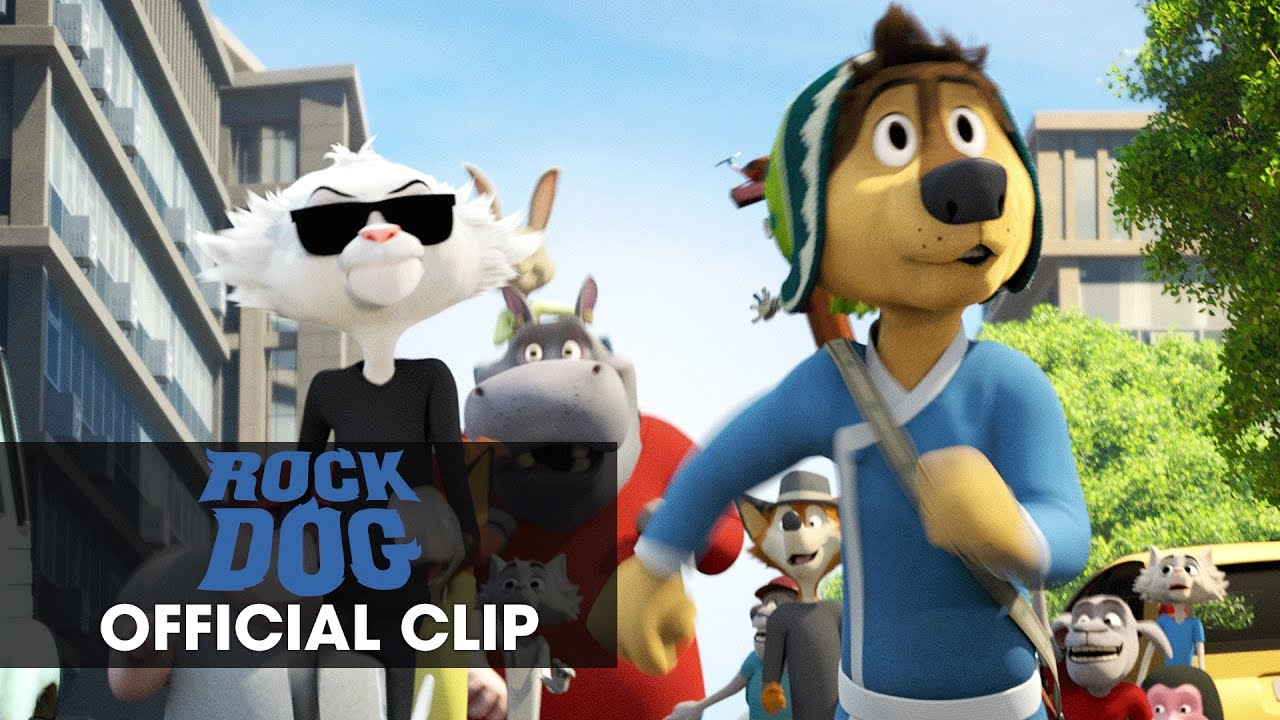"""Rock Dog (2017 Movie) – Official Clip """"The Chase"""""""