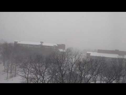 Snowfall in USA Quincy MA