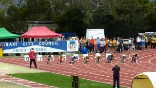 Little Athletics Championships 2012 - Hobart - 100m Final