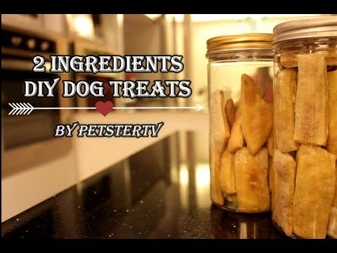 QUICK AND EASY DIY DOG TREATS! ONLY 2 INGREDIENTS!