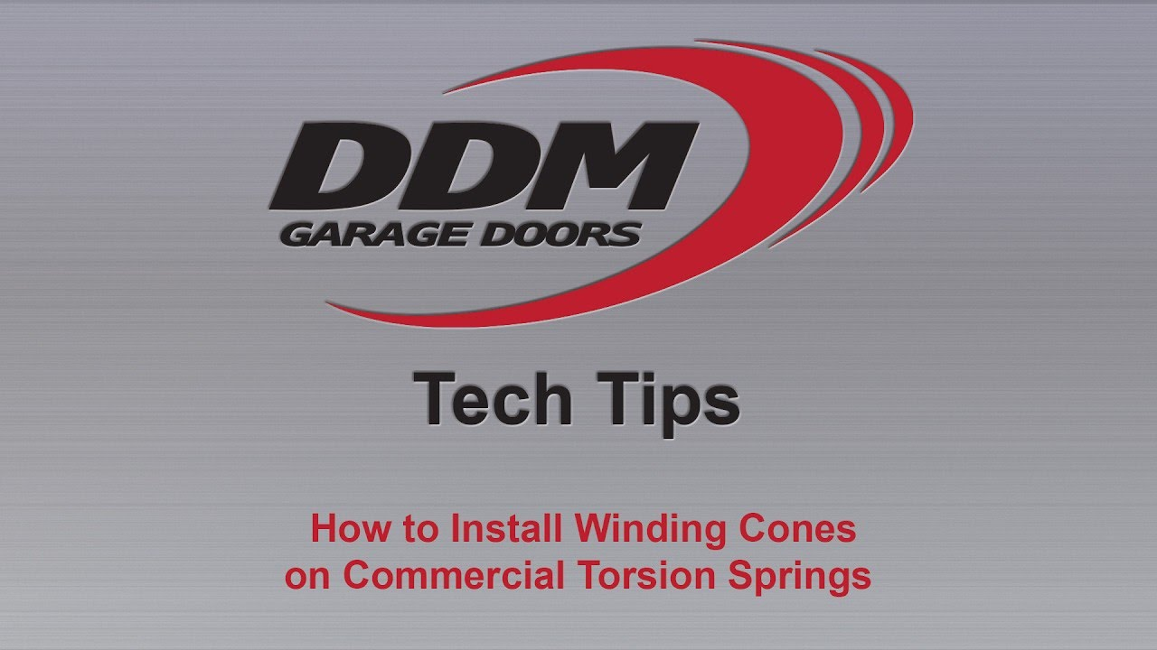 How to install winding cones on commercial torsion springs youtube rubansaba