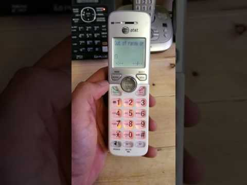 How to reset your At&t or V-tech handset part 1
