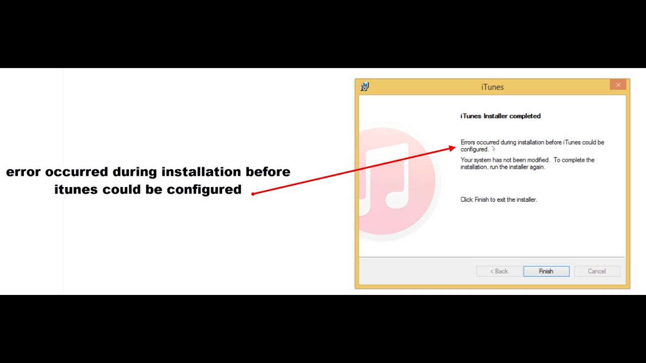 iTunes Was Not Installed Correctly - YouTube