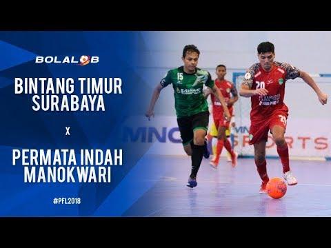 Bintang Timur Surabaya (1) Vs (2) Permata Indah Manokwari - Highlights Pro Futsal League 2018