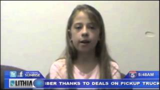 12 year old Oregon girl hailed a hero - Oct 15th, 2014