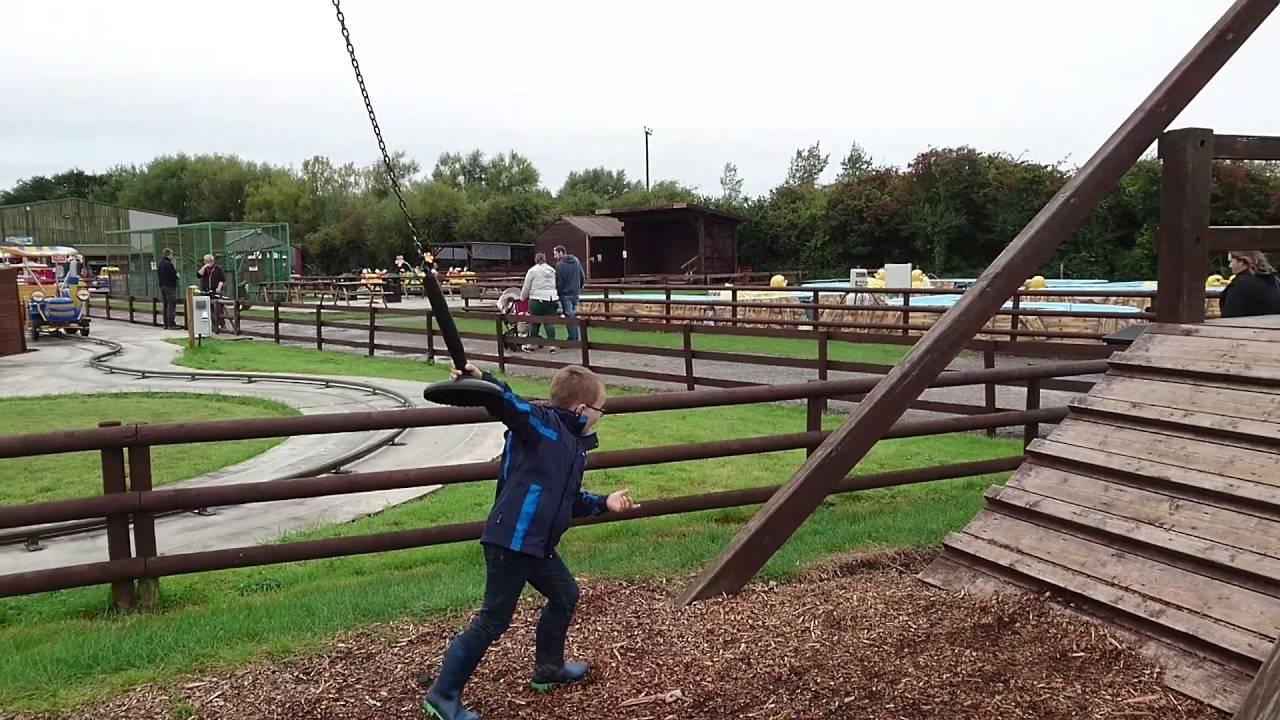 20m Zip Wire At Animal Farm Adventure Park Brean September 2016