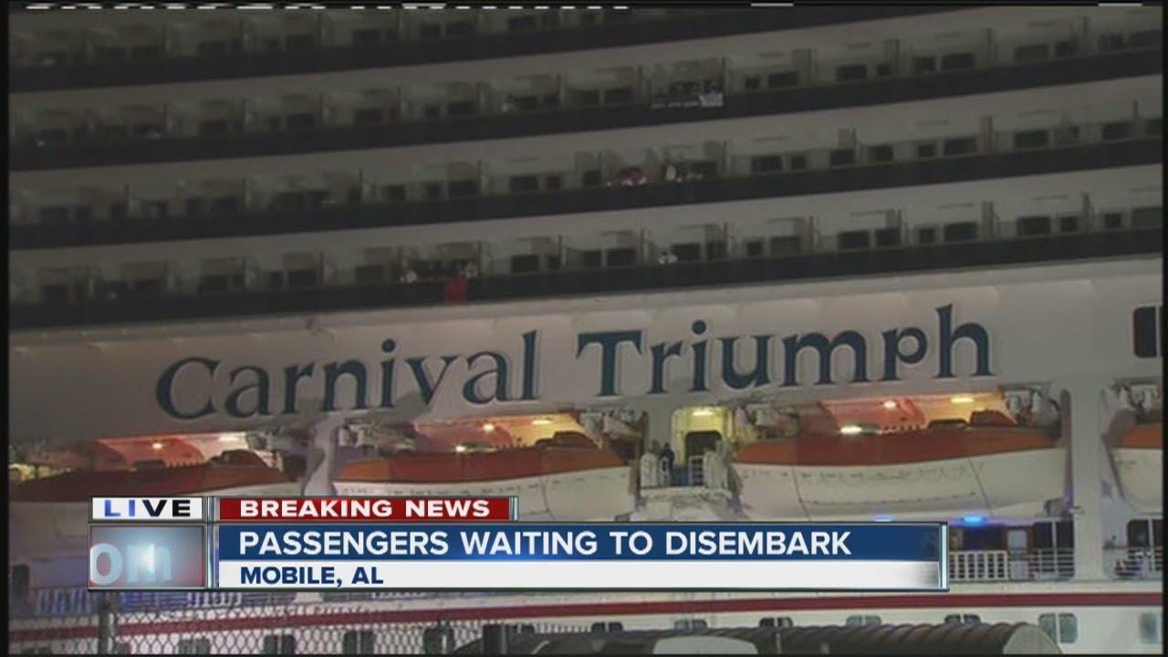 Crippled Cruise Ship Arrives At Mobile Alabama Port Terminal - Cruise ship mobile alabama