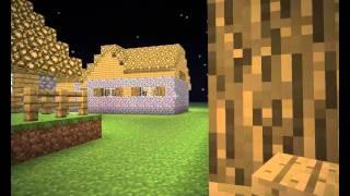 Моя деревня в minecraft!