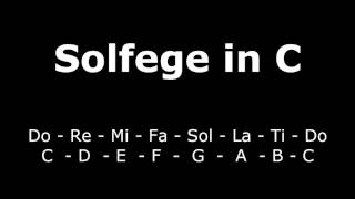Ear Training: Solfege in C - Piano & Vocal