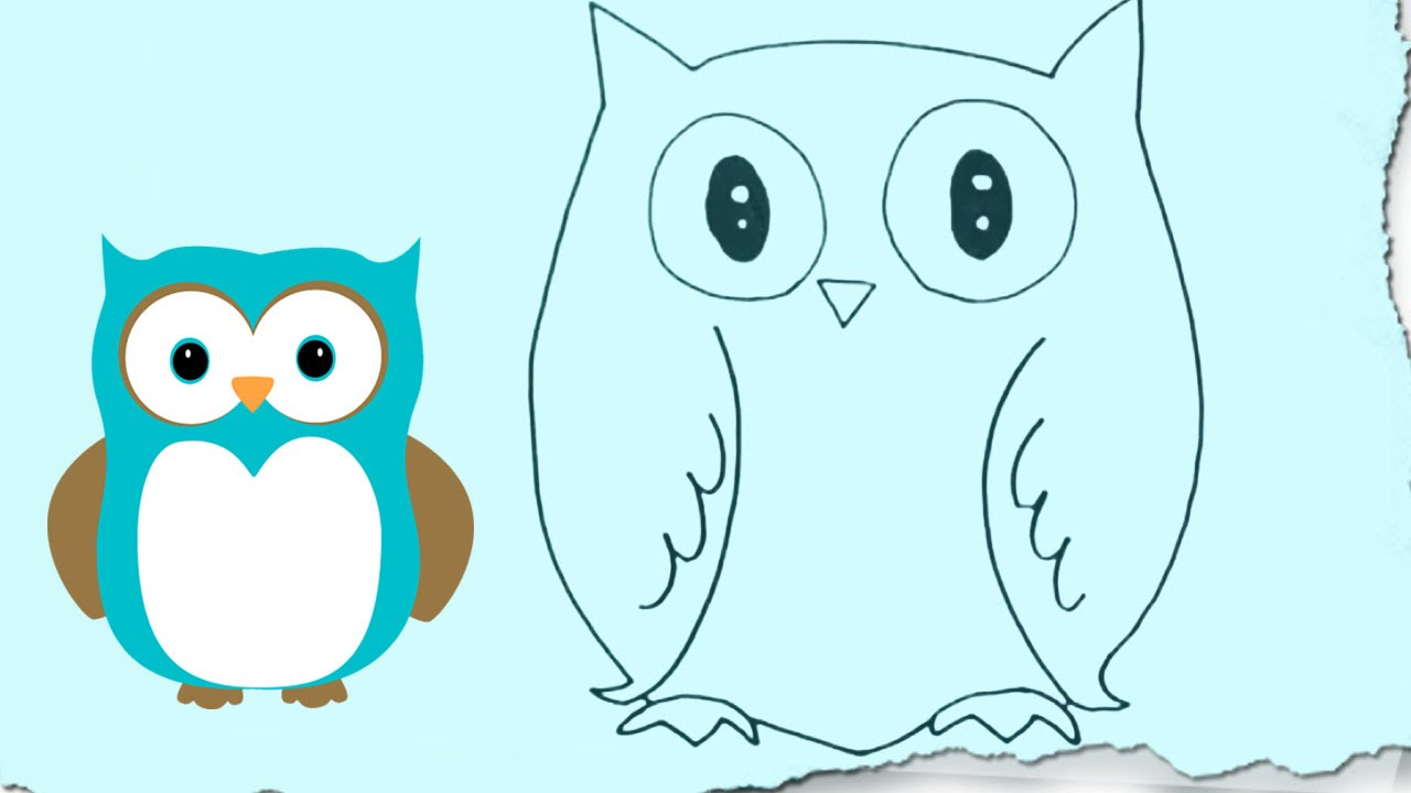 Uncategorized Easy Drawings Of Owls how to draw an owl by hooplakidz doodle drawing tutorial youtube