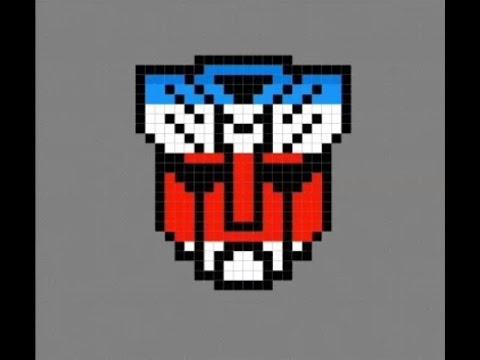 Pixel Art Autobot Transformers Logo Youtube