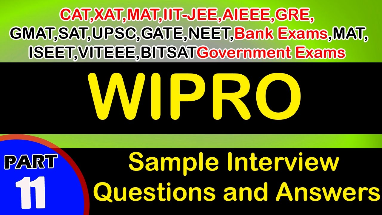 Wipro 11 Interview Questions Answers Videos Freshers Experienced Career Jobs