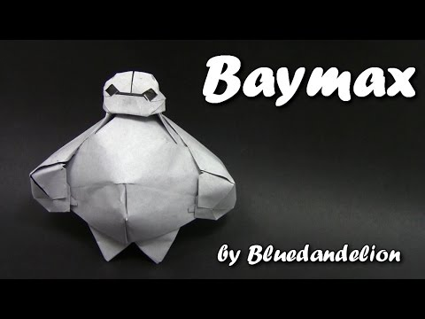 Origami Baymax by Bluedandelion (Part 2 of 2 )  - Origami easy tutorial