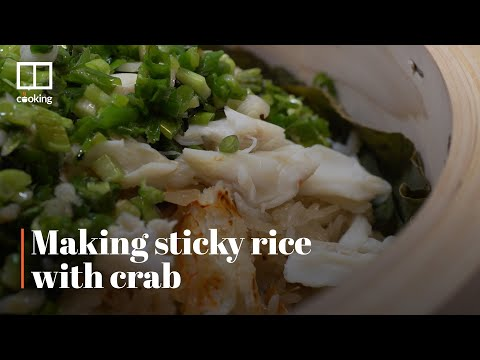 making-sticky-rice-with-fresh-crab