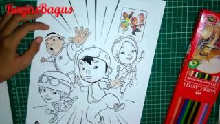 🎨Mewarnai Boboiboy and Friend choki| Part 4⃣ | Colouring Boboiboy