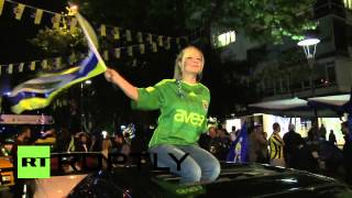 Turkey: Supporters euphoric as Fenerbahce win league title
