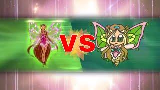 Winx enchantix chibi vs original splitscreen
