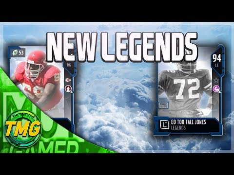 NEW LEGENDS WILL SHIELDS AND ED TOO TALL JONES!!!| MADDEN 18 ULTIMATE TEAM LEGENDS