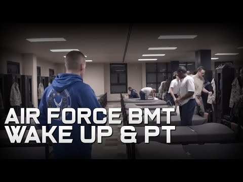 Air Force BMT Wake Up & PT (Part 1)