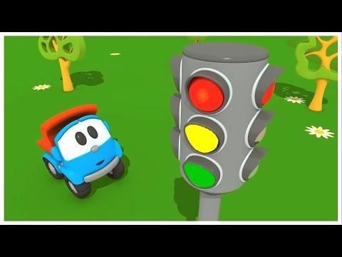 Cartoons für Kinder - Leo Junior baut eine Ampel - Deutscher Zeichentrickfilm