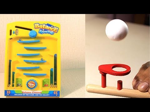 Desktop Balance and Floating Ball Game , Unboxing/review in Hindi
