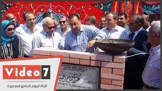وزير الإسكان يضع حجر الأساس لمحطة تنقية المياه ببور سعيد