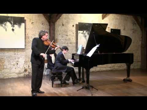 Scherzo Brahms Alexandre Brussilovsky  violon  Ingmar Lazar piano