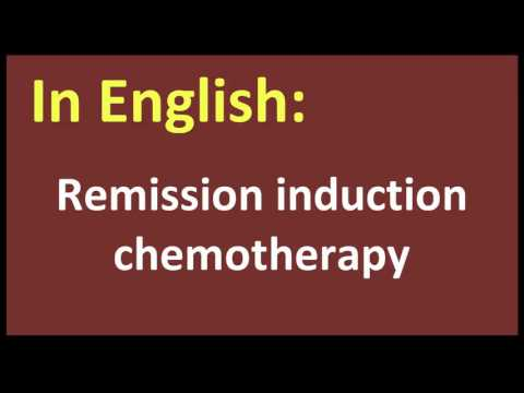 Remission induction chemotherapy spanish MEANING